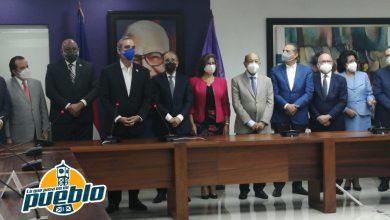 Photo of Termina reunión del presidente Abinader con Danilo Medina y alta dirigencia PLD