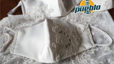 Photo of Mascarillas de seda, la apuesta de una joven chilena para bodas en pandemia