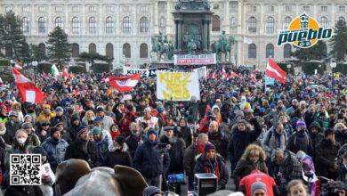 Photo of Miles de personas se manifiestan en Viena contra el confinamiento