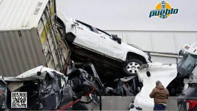 Photo of Seis muertos en choque de 130 vehículos en la interestatal helada de Texas