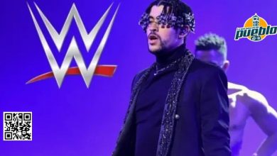 Photo of Bad Bunny cumple su sueño a lo grande: canta y hasta se lanza de la tercera cuerda en la WWE