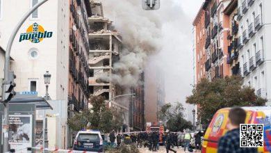 Photo of La Policía atribuye la explosión en Madrid a una fuga de gas en el exterior