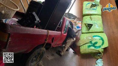 Photo of Policía Nacional intercepta dos hombres que transportaban presunta marihuana en un vehículo