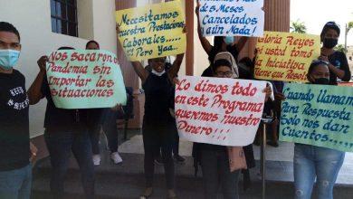 Photo of Empleados cancelados del Prosoli protestan para reclamar el pago de su sudor