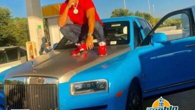 Photo of Tirotean lujosa yipeta Rolls Royce del artista El Alfa en Miami
