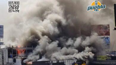 Photo of Fuego consume tienda Aro y Pedal en la 27 de Febrero