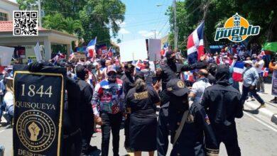 Photo of Cientos de dominicanos marchan en Dajabón en contra del desvío del río Masacre