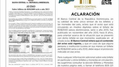 Photo of Banco Central aclara aviso sobre billete que circula en redes